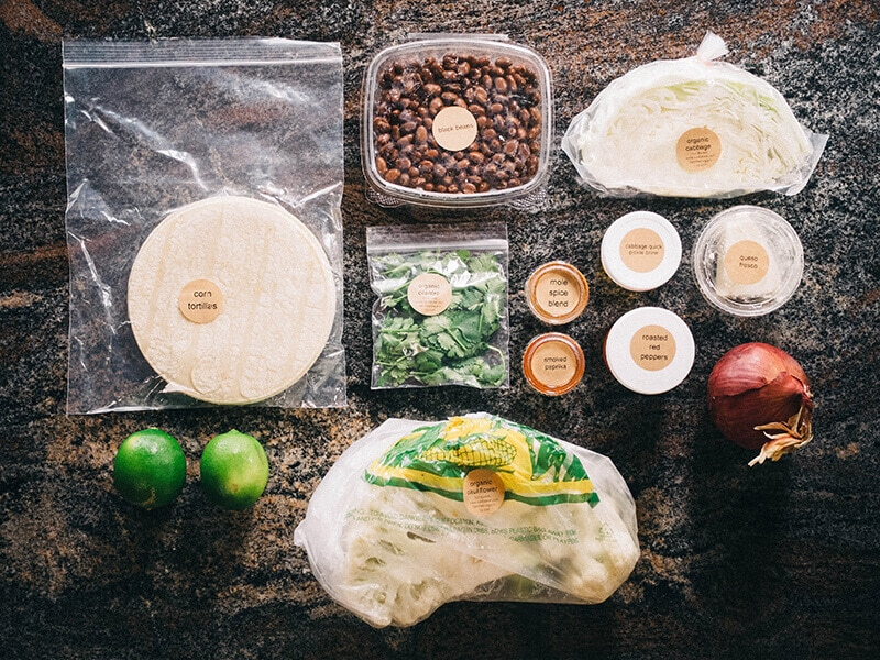 Certified organic ingredients to cook your own meal