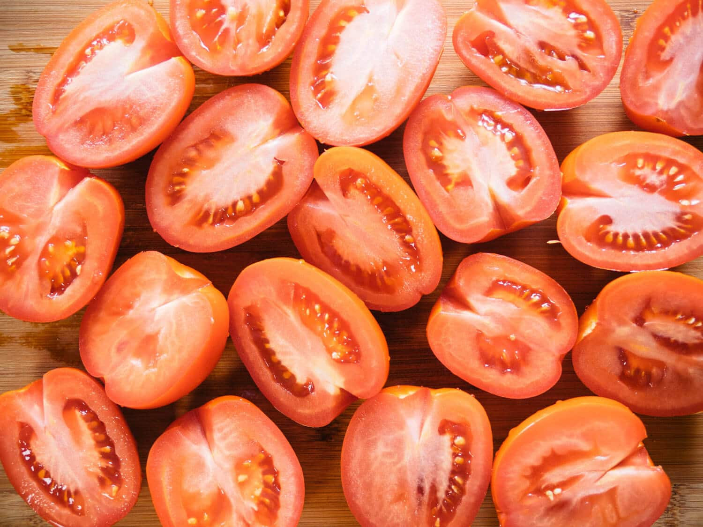 Fresh Roma tomatoes