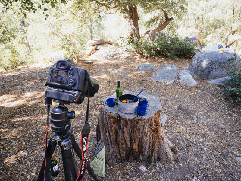 Shooting The New Camp Cookbook in Idyllwild, California