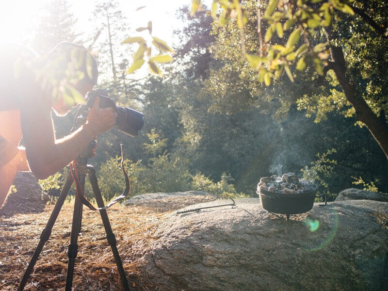 Shooting The New Camp Cookbook at Marion Mountain Campground