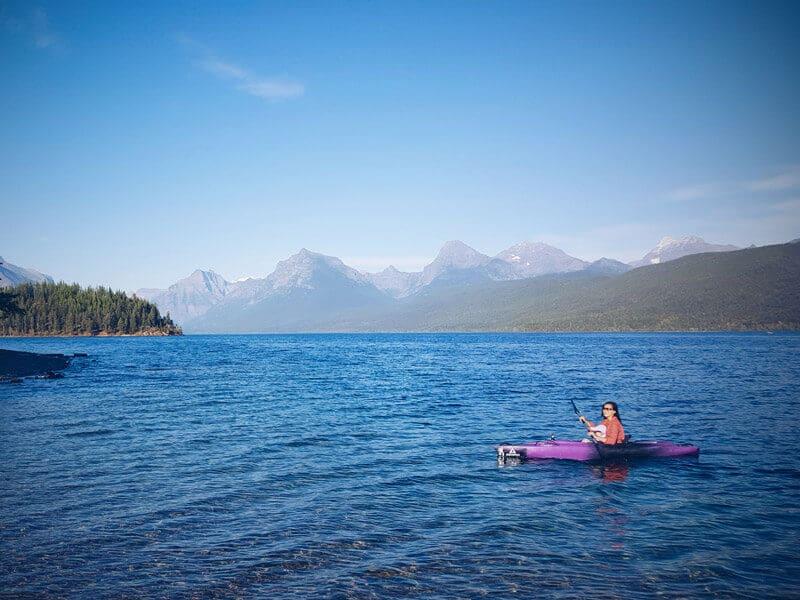 Kayaking on Lake McDonald