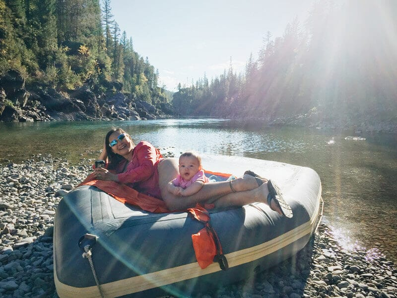 Rafting on the Flathead River