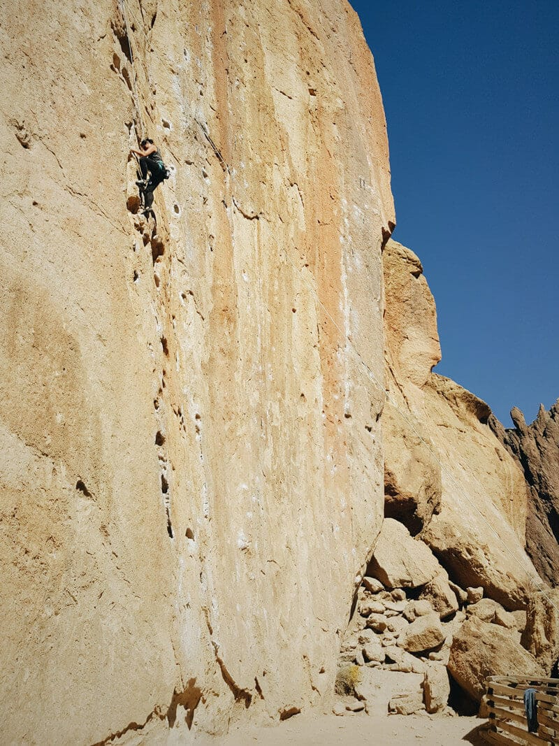 Rock climbing at Smith Rock State Park