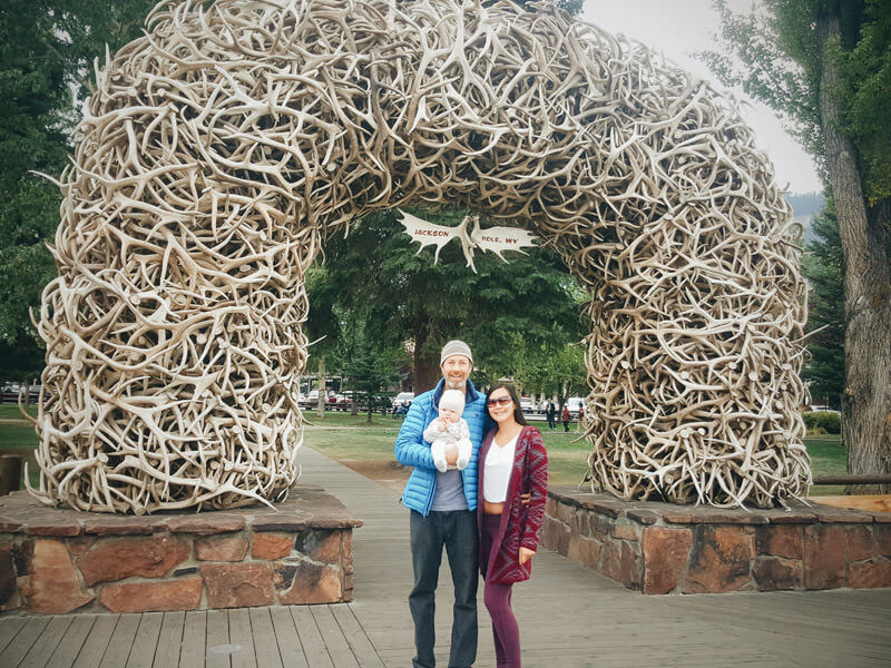 Antler arch at Jackson Town Square