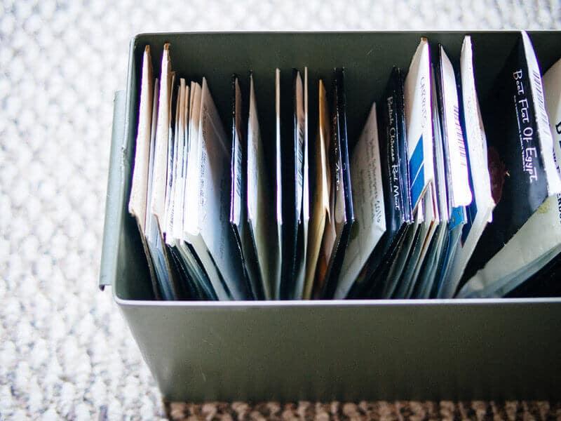 A well organized seed bin