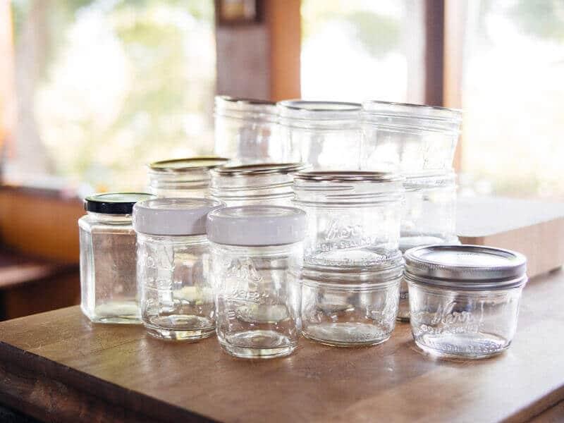 A plethora of canning jars