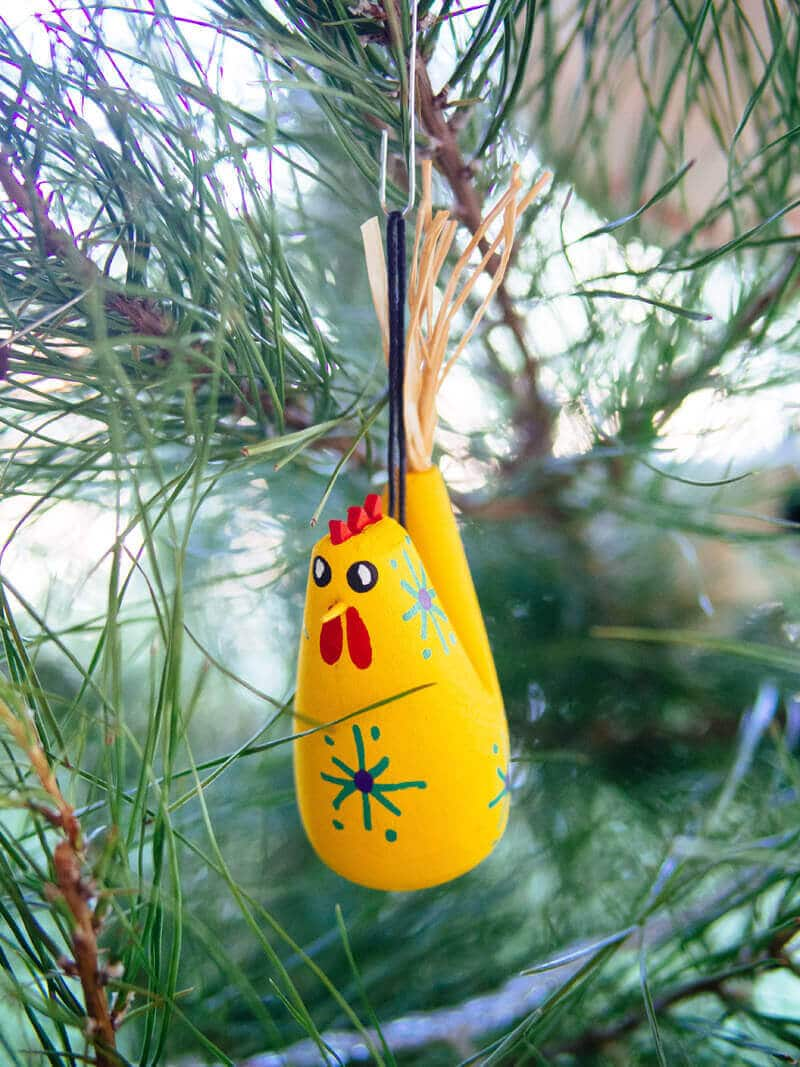 Navajo chicken ornament from Taos, New Mexico