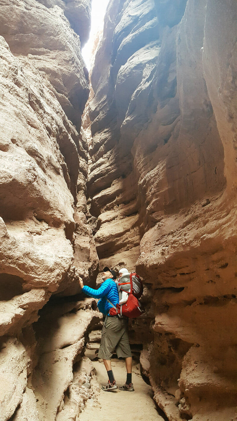 Climbing the Ladder Canyon Trail in Mecca Hills
