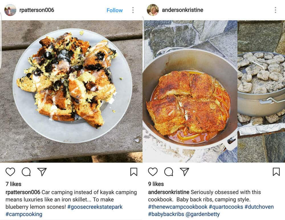 Good eats from my Instagram feed, all from The New Camp Cookbook