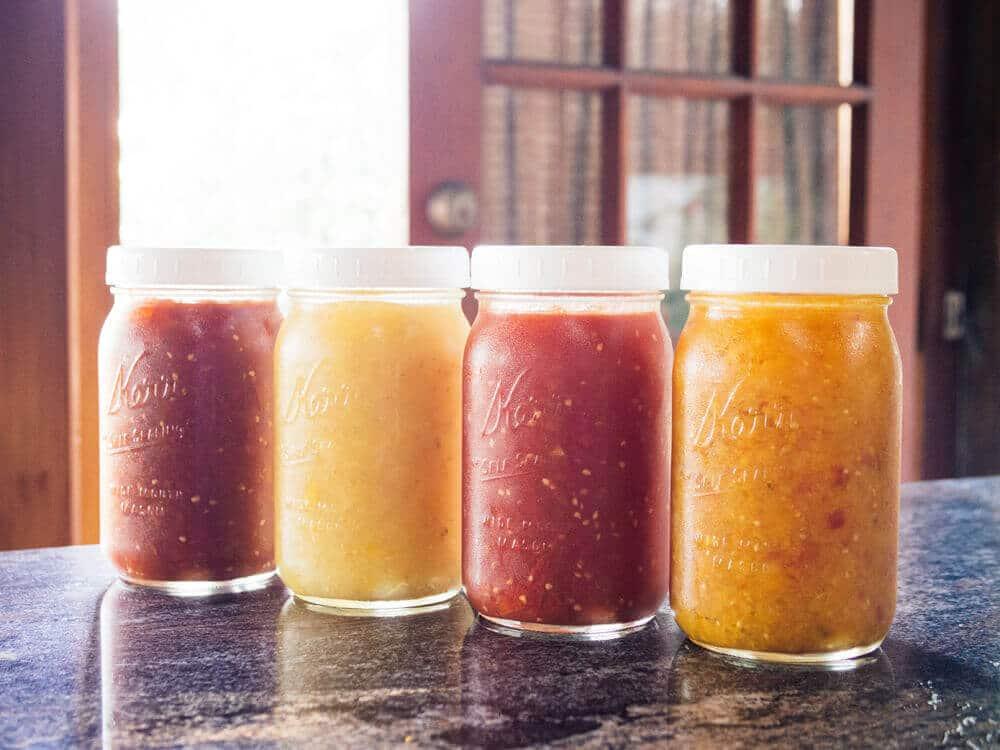 Homemade heirloom tomato sauce
