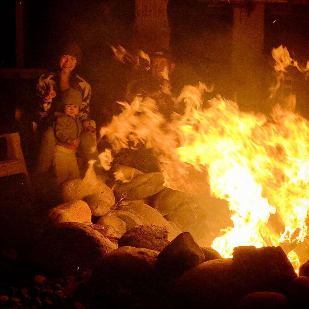 Yucca bonfire, a true Baja experience