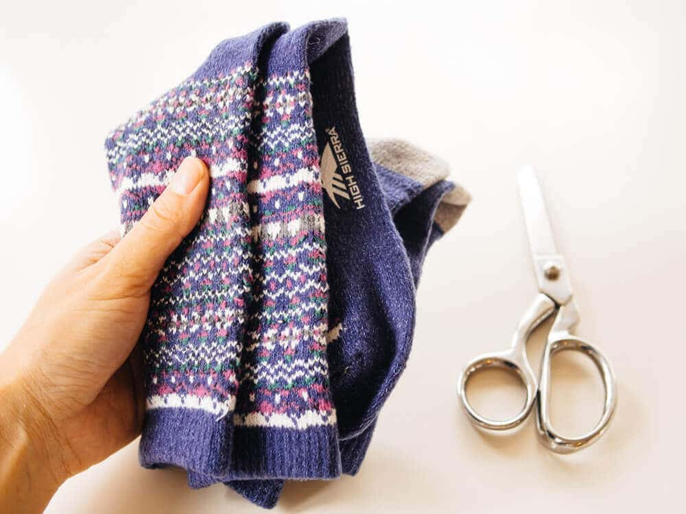 Wool socks to turn into koozies