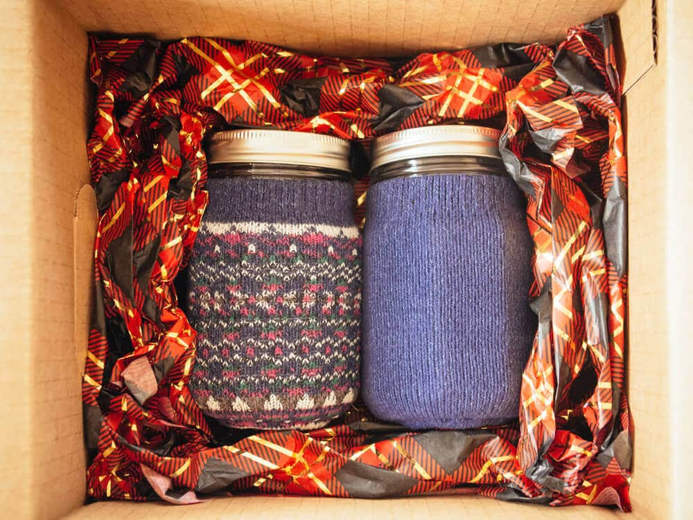 Sharing jars packed up for gift-giving