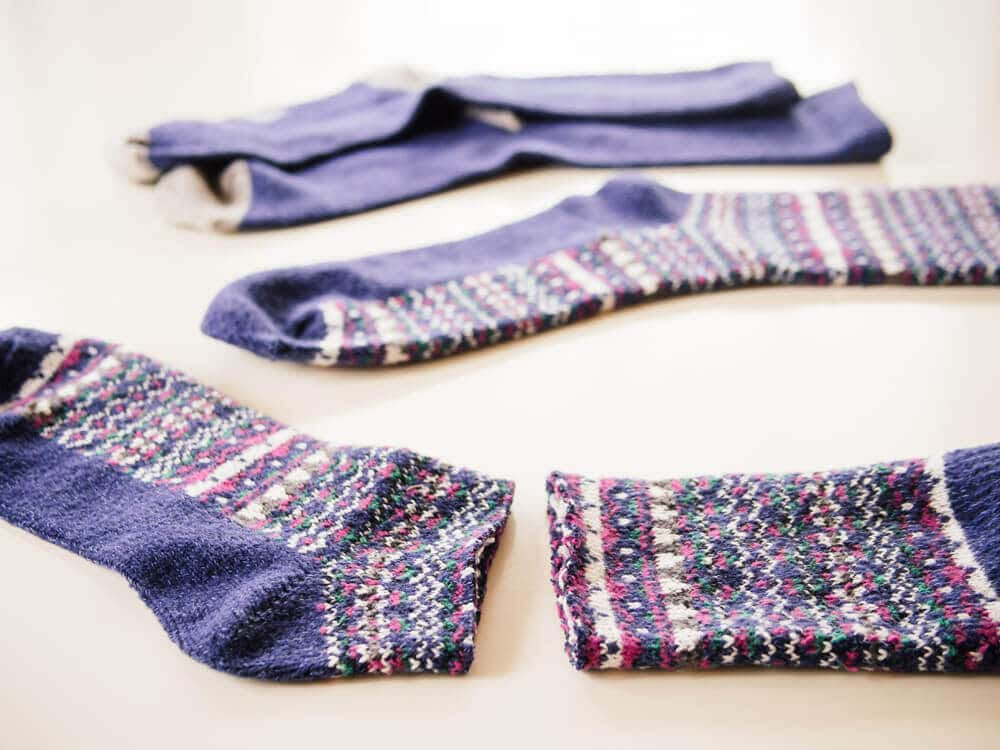 Cut and turn the sock inside out