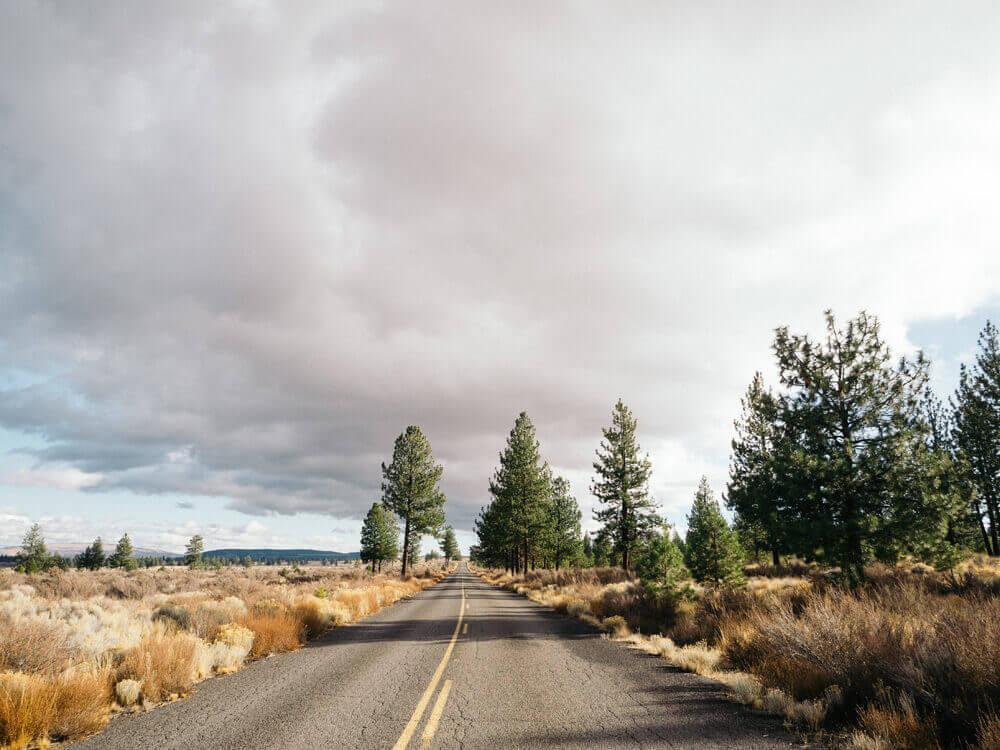 Driving through Deschutes National Forest