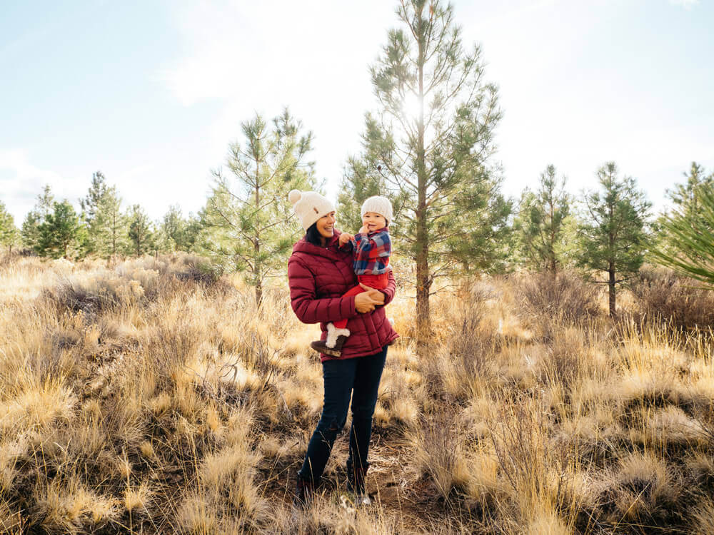 A Christmas tree cutting adventure with the little one