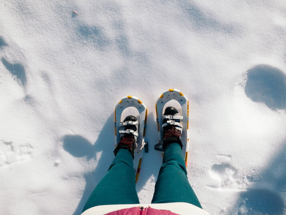 First snowshoe outing of the season