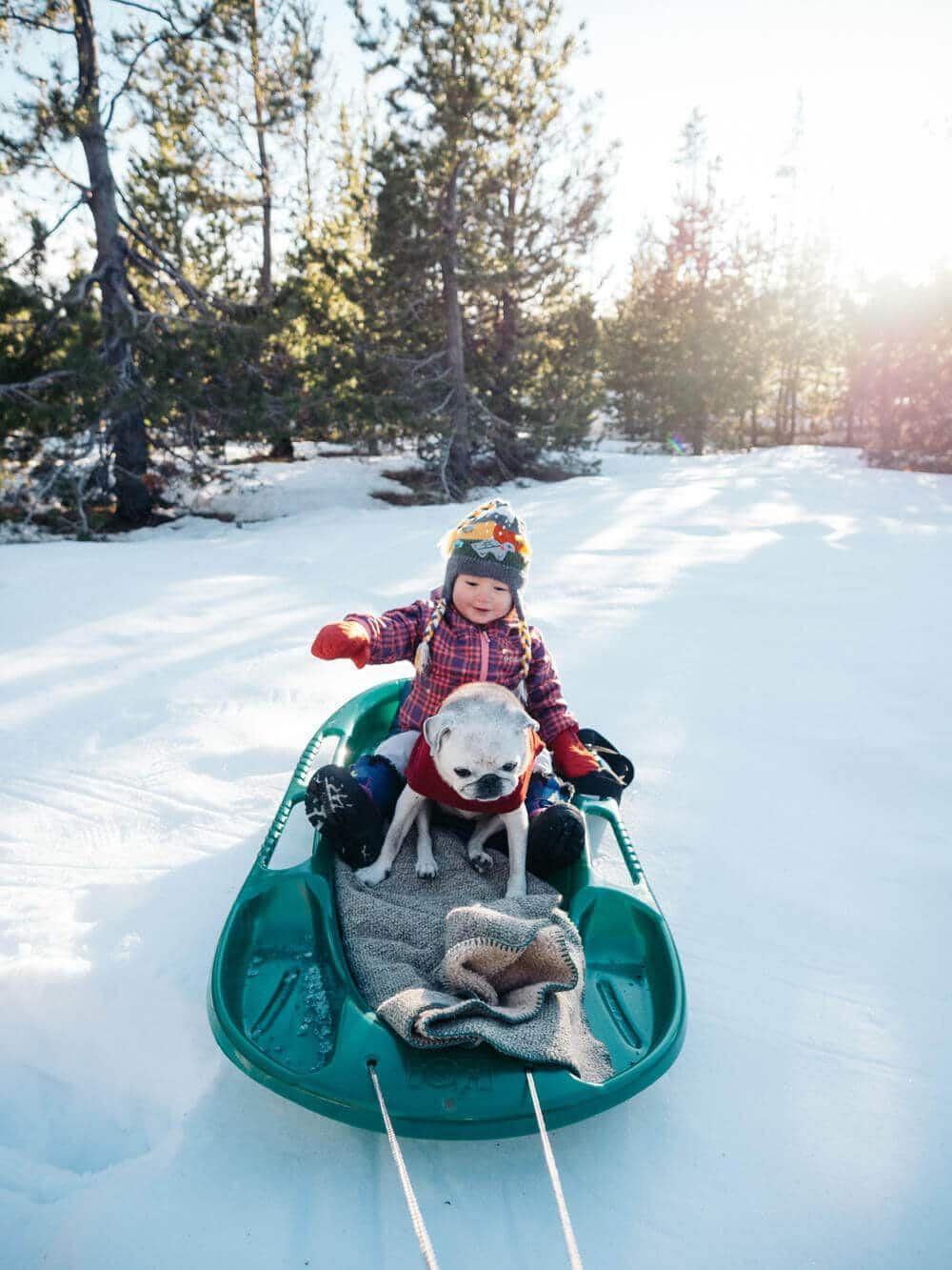 Taking the kids out for a spin on the sled