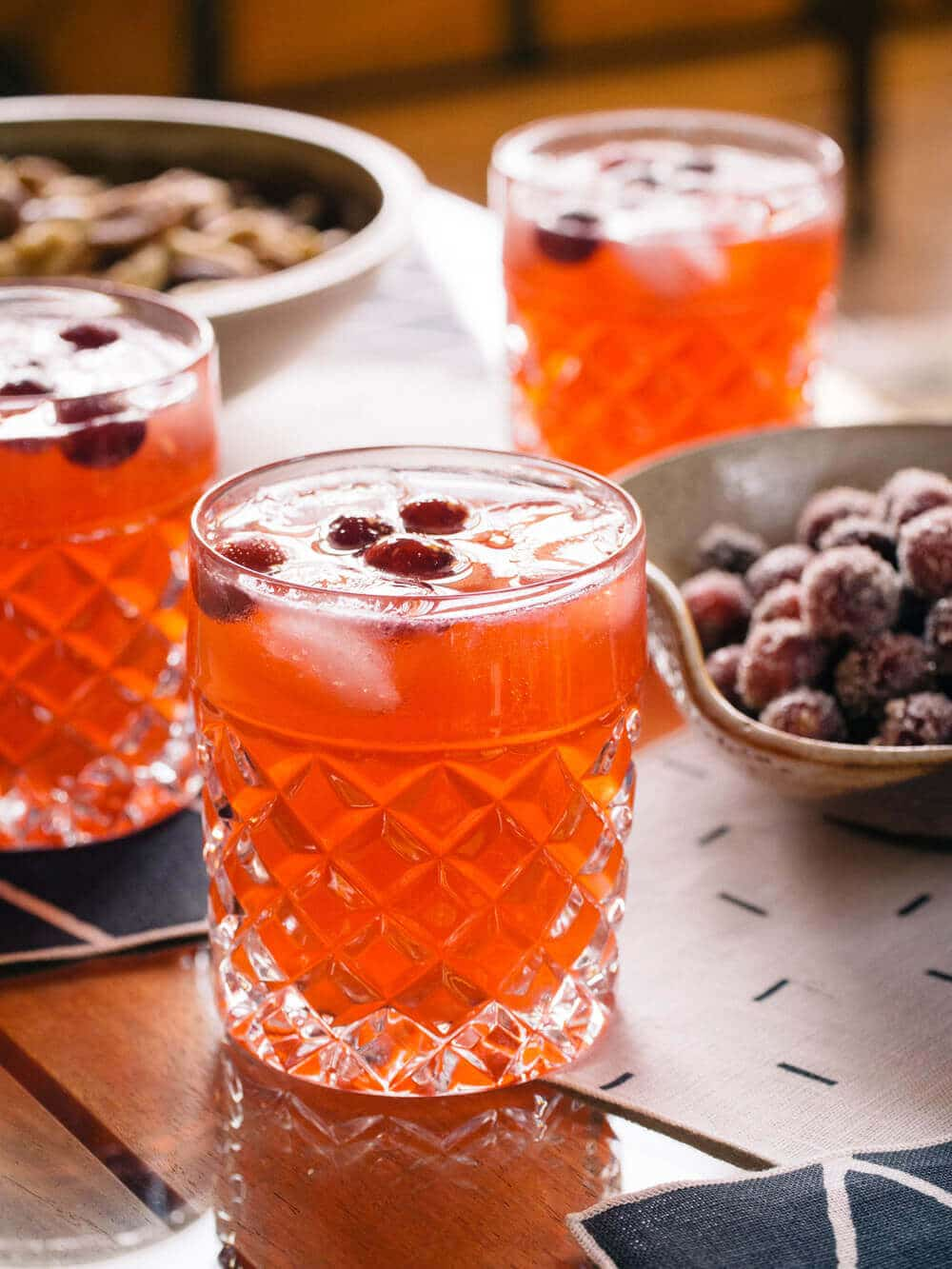 Cranberry moscow mules for the holidays