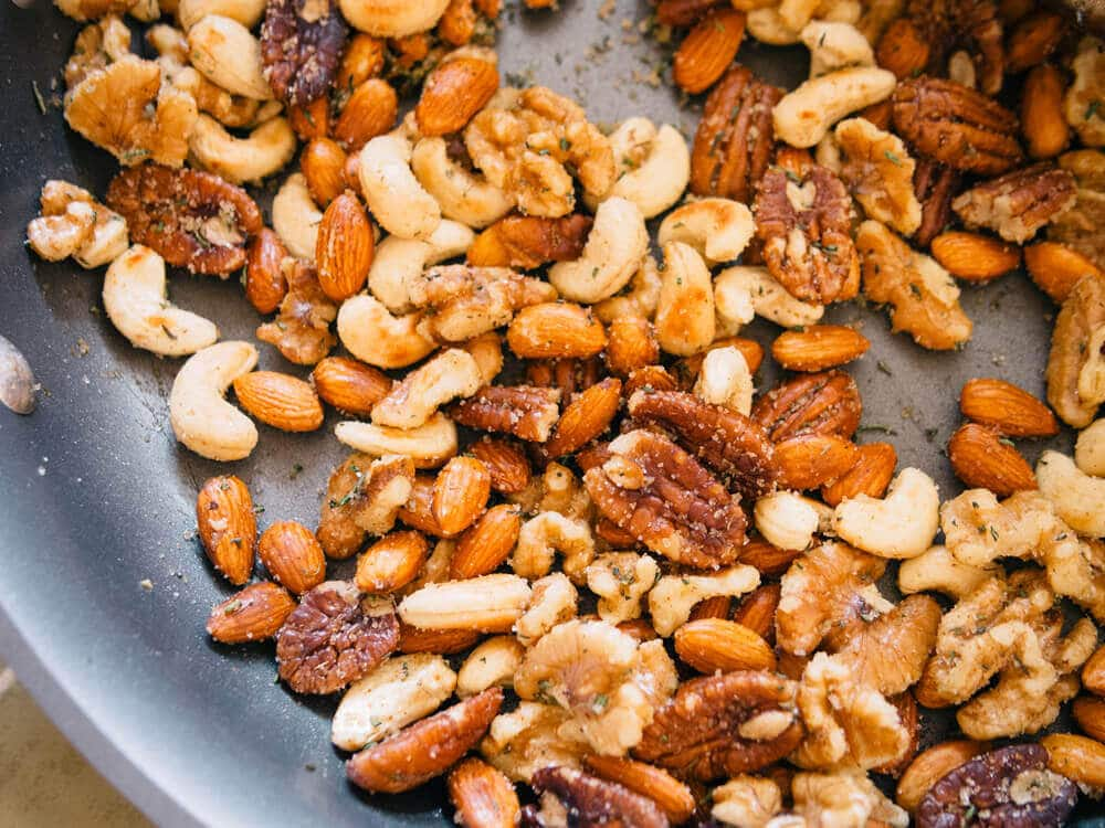 Holiday spiced and herbed nuts