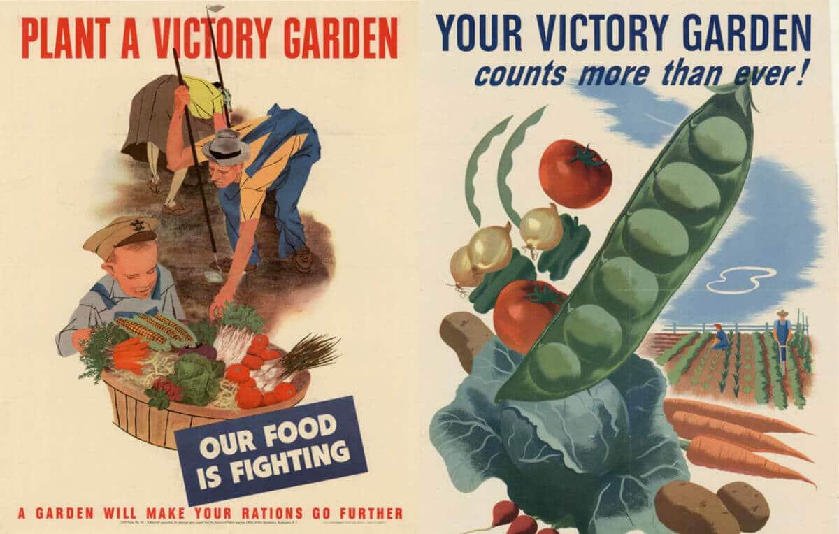 World War II victory garden posters