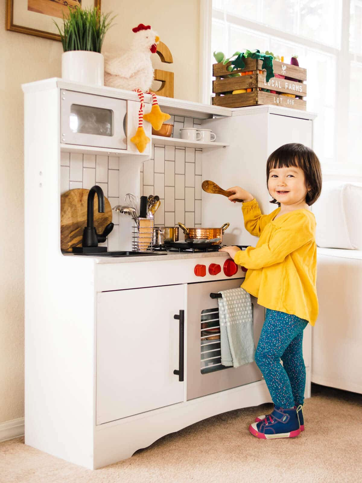 A Play Kitchen Makeover | Garden Betty