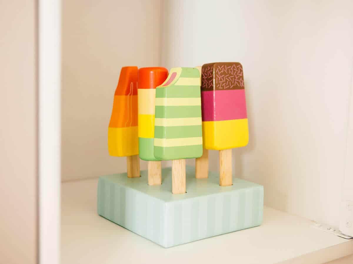 Wooden ice cream pops