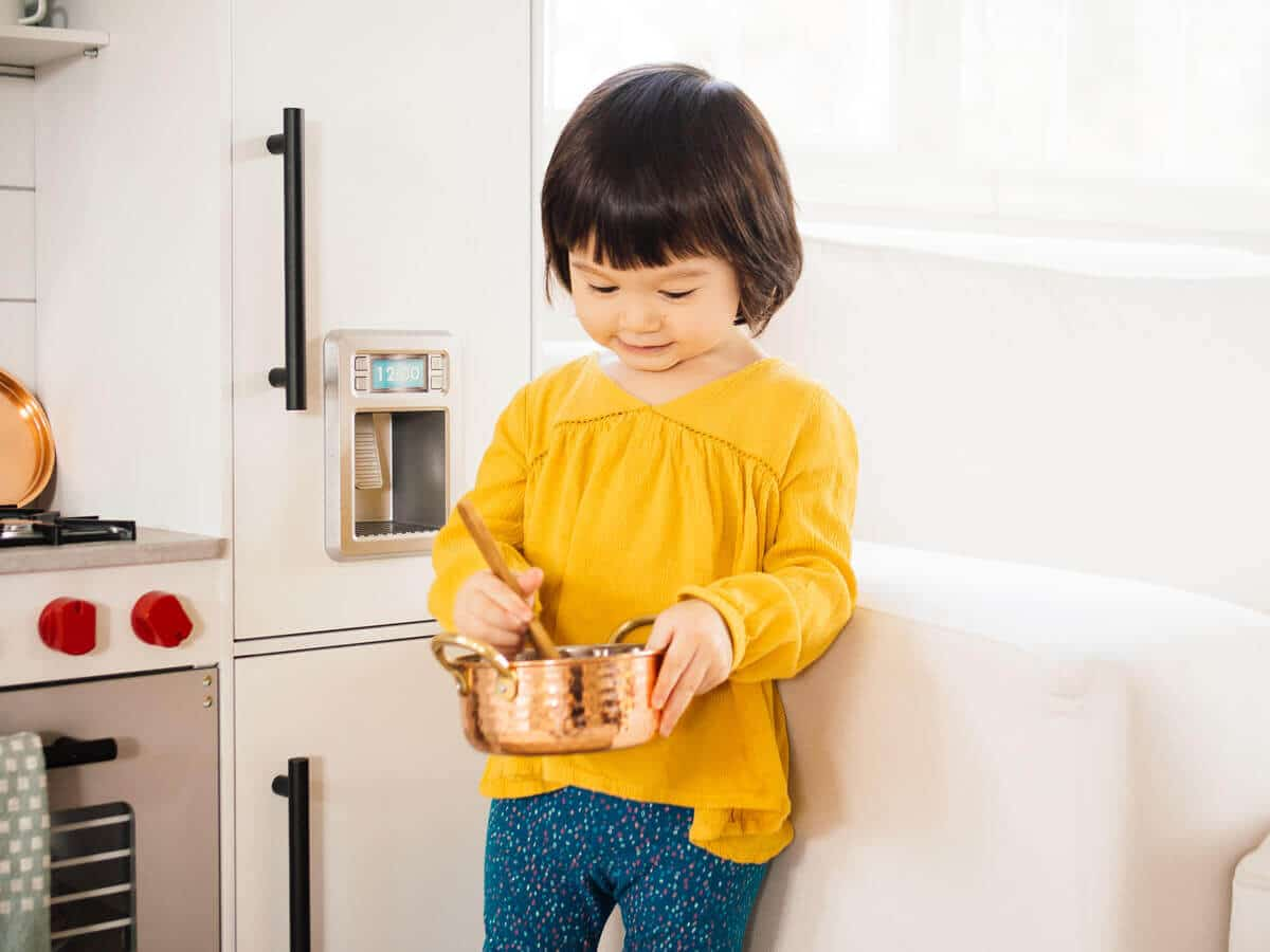 Just like mom with her little copper pot