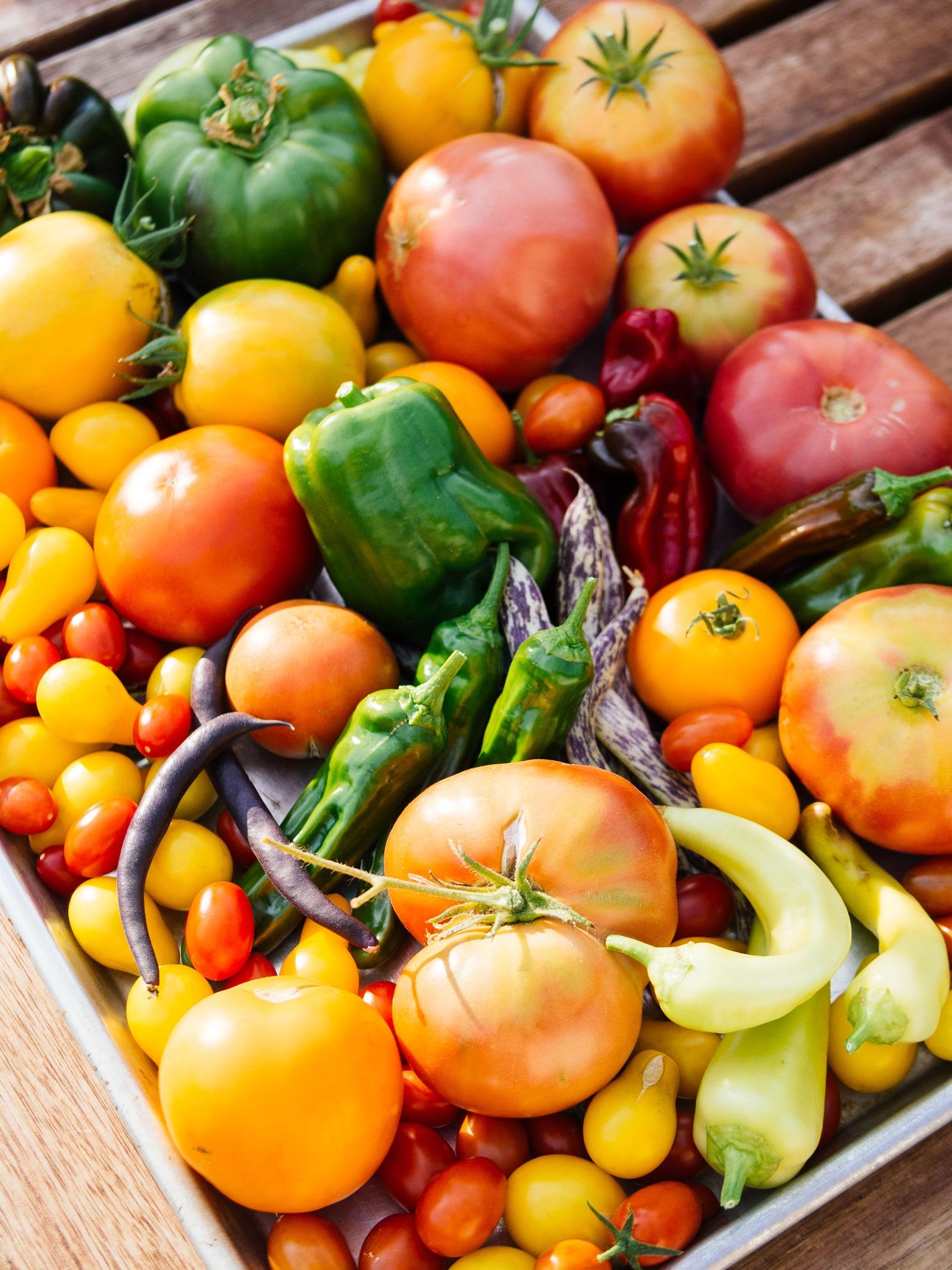 Harvest your remaining summer vegetables