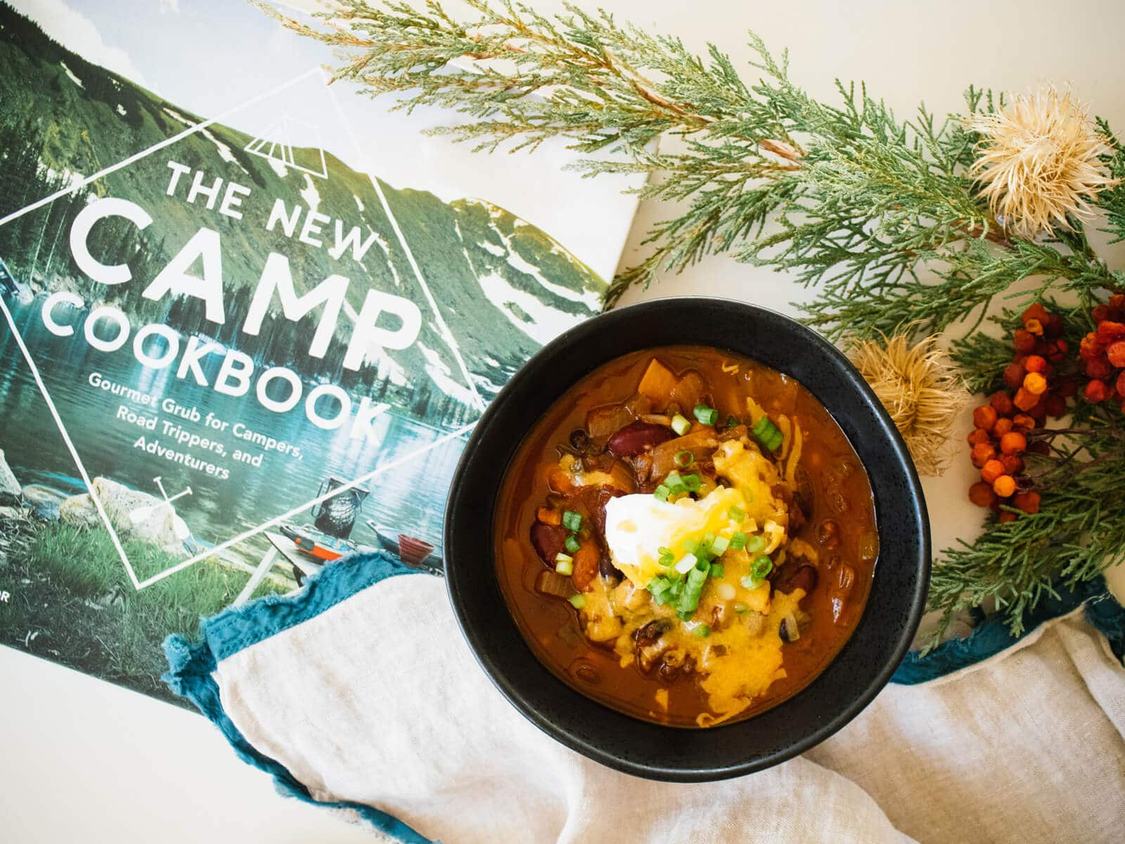 Five-alarm three-bean chili from The New Camp Cookbook