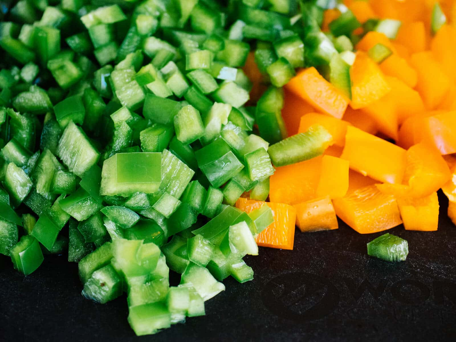 Chopped hot and mild peppers