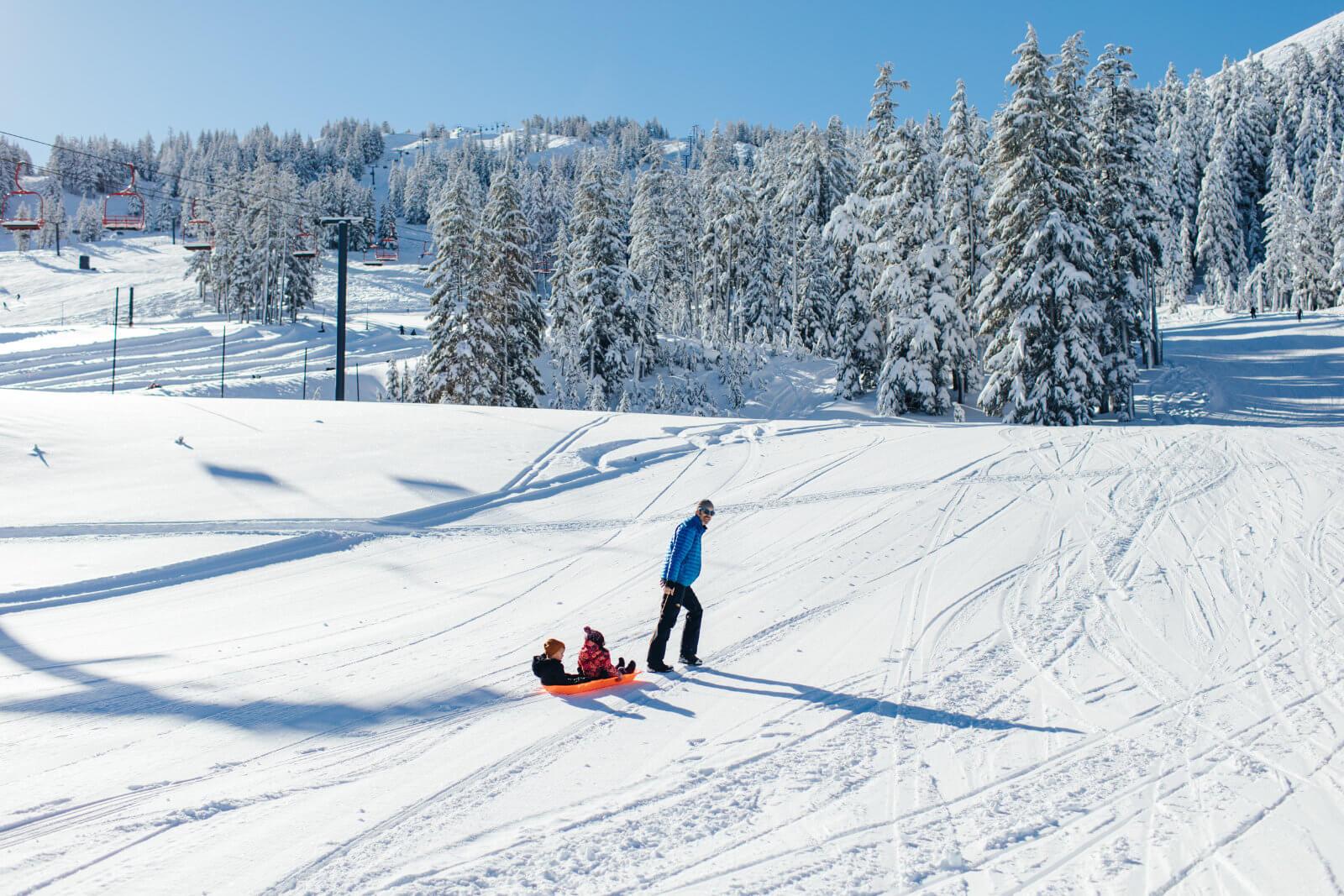 Christmas day sledding