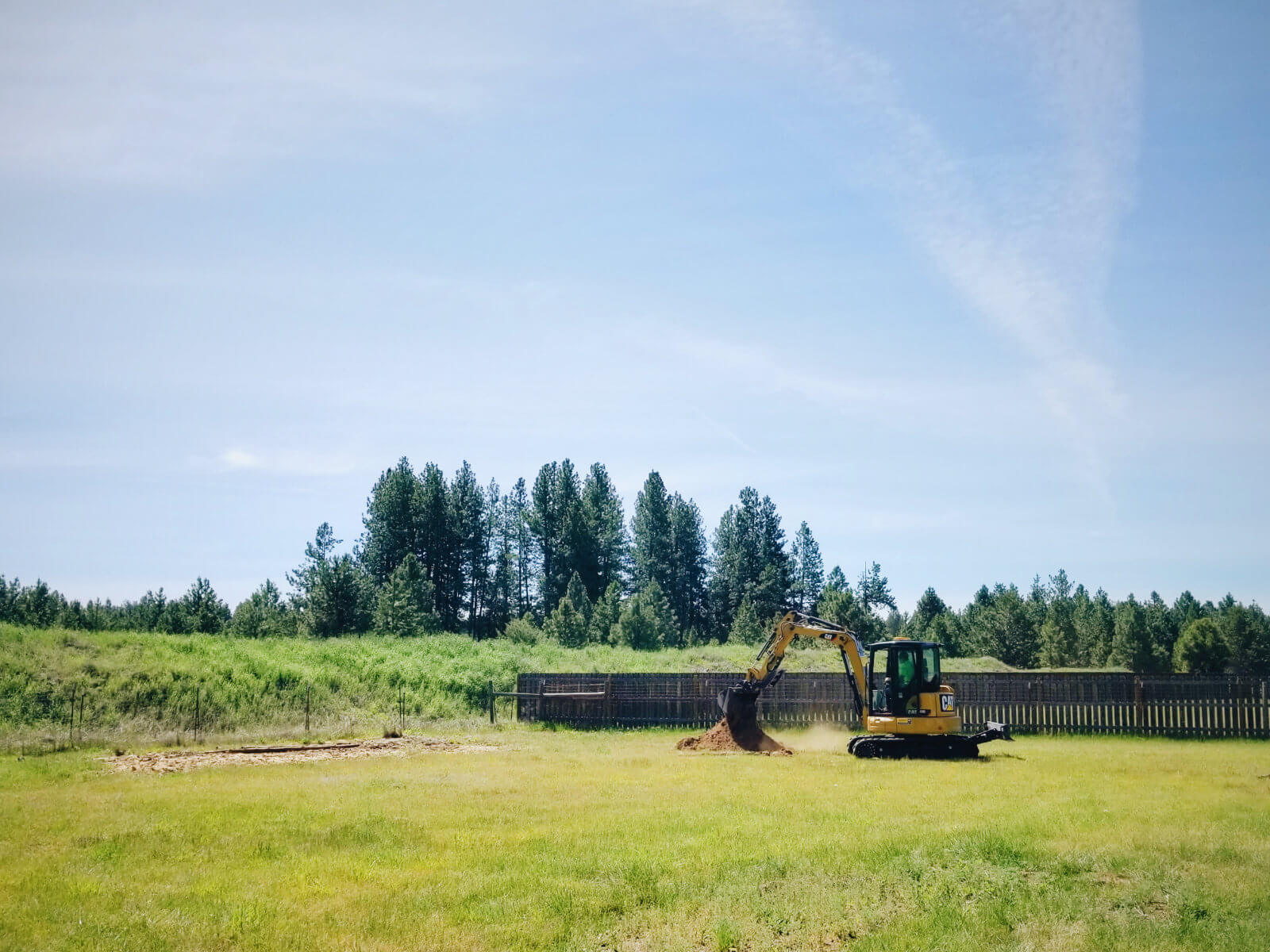 Pre-construction progress on our new property