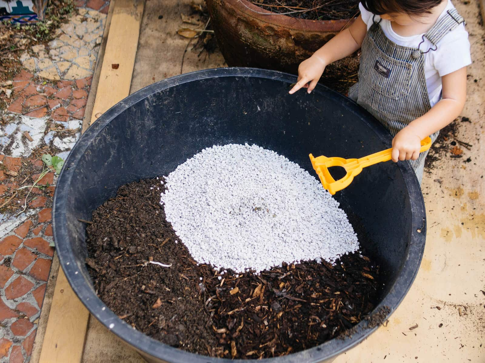 Add perlite to soil mixes for aeration and drainage
