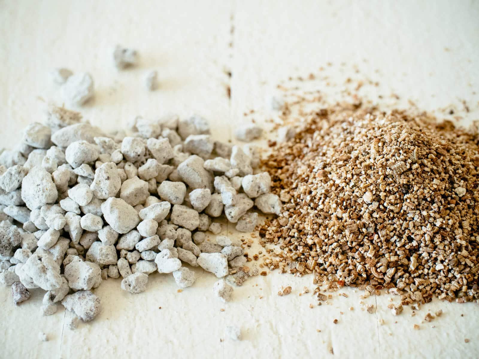 Perlite vs. vermiculite