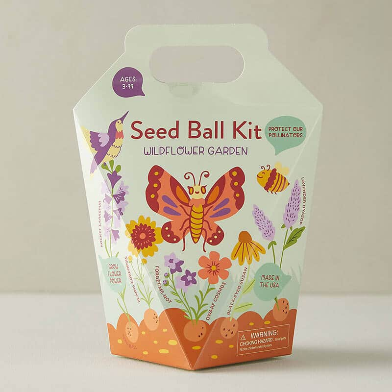 Seed ball kit for a wildflower garden