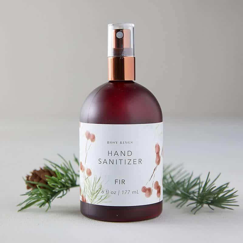 Fir-scented hand sanitizer