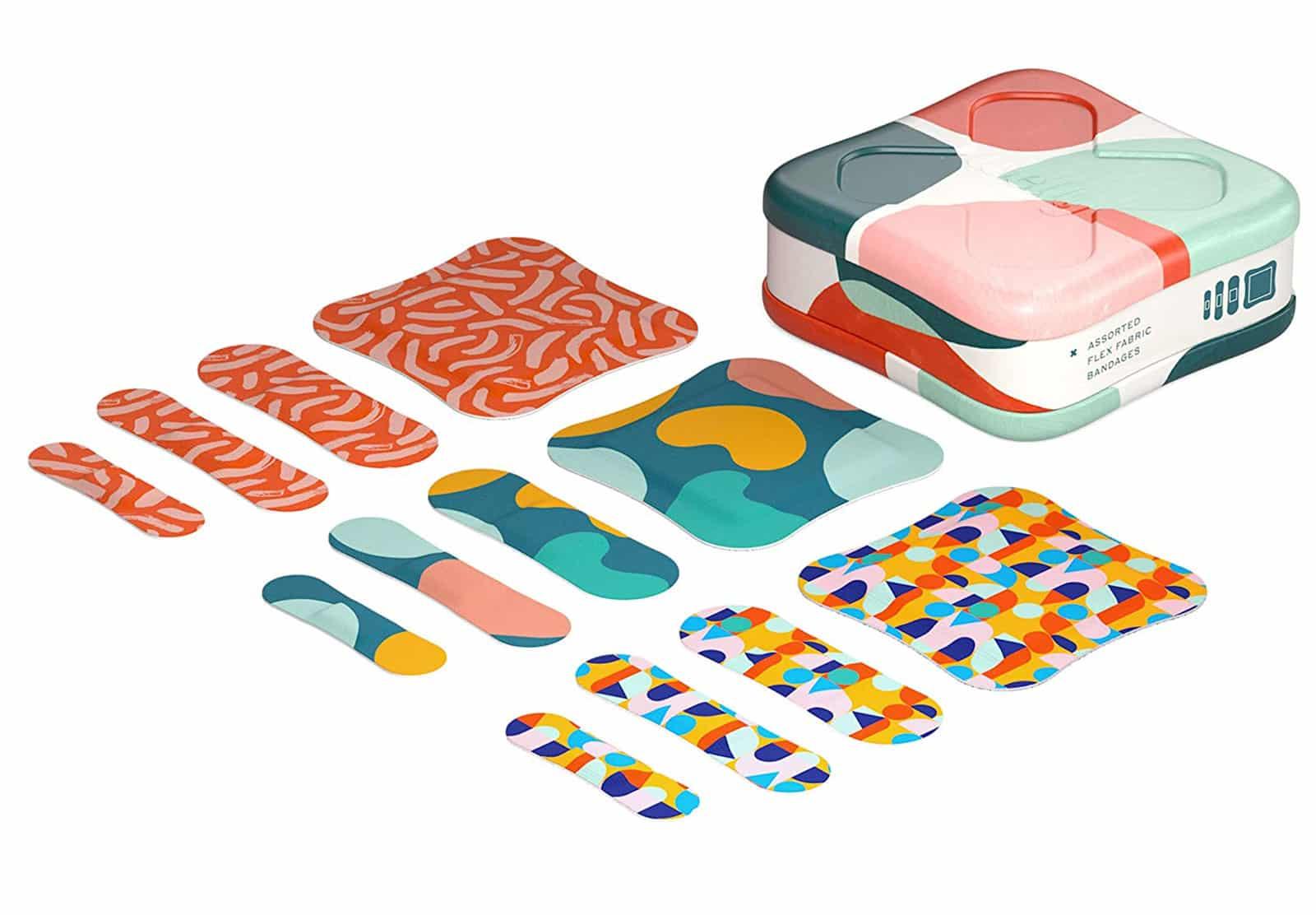 Botanical-print bandages