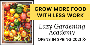 Grow more food with less work in Lazy Gardening Academy